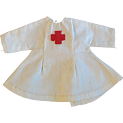 """Vintage Factory Made White Nurse Dress Cape for Ginny Muffie or other 8"""" Dol"""