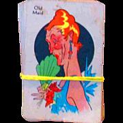 Vintage Old Maid Card Game Whitman Pub