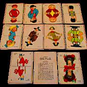Vintage Old Maid Card Game Milton Bradley KatzKids Baxter Brown Toodles
