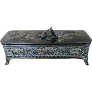 Christmas Sale James Tufts Warranted Silver plate Box Casket AS IS