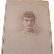 Victorian Cabinet Photo Photograph Card Girl Woman
