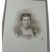Victorian Cabinet Photo Photograph Card Young Woman Barrettes