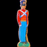 "7"" Vintage Litho Cardboard Toy Soldier"