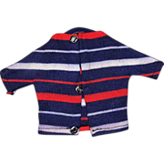 Ideal Tammy Ted Red White Blue Stripe Shirt Sweater