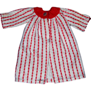 Ideal 49N-3137 Red and White Flannel Nightgown Robe for Tammy or her Mom
