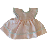 Vintage Ginny Muffie or other Pink Satin Doll Dress