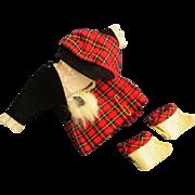 "Vintage 8"" Ginny Muffie Tagged #1256 Far Away Lands British Islander Kilt with Blouse, Jacket, Socks"