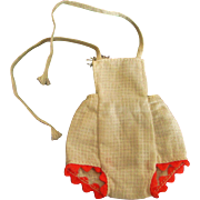 """Small Vintage White Bibs for Betsy McCall or Other Slender 8"""" Doll"""