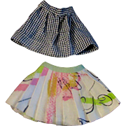 Pair Ideal Tammy Clone or Mommy Made Skirts Check Floral
