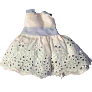 """Lace Dress with Blue Satin Underskirt for Ginny Muffie or Other 8"""" Doll"""