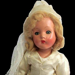 "14"" Very Pretty Effanbee Composition Suzanne Bride Doll"