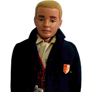 Vintage Blond Straight Leg Mattel Ken Doll with Box
