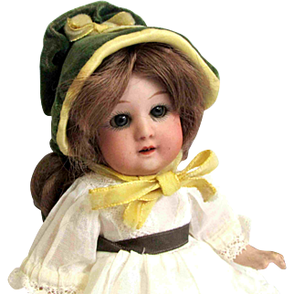 """Sweet Cabinet Size 11"""" Bisque Head Girl Doll 5 PC Composition Body"""