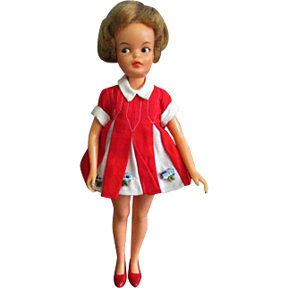 Ideal Tammy's Little Sister Pepper Doll Red Shoes Original Dress
