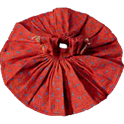 """Red Denim Dress for Ginny Muffie or other 8"""" Doll Blue Bow pattern"""