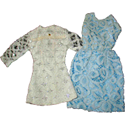 Tammy Other 12 inch Fashion Doll Clone Mommy Made Clothes Blue White Net Dresses