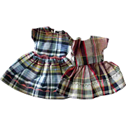 Tammy Pepper 12 inch Fashion Doll Clone Mommy Made Clothes Two Plaid Dresses