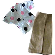 Tammy Other 12 inch Fashion Doll Clone Mommy Made Clothes Polka Dot Top Pants