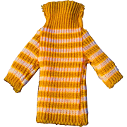 """12"""" Ideal Tammy or other Fashion Doll Yellow White Striped Knit Turtleneck"""