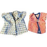 """12"""" Ideal Tammy or other Fashion Doll Set of Two Check Diamond Pattern Shirt"""