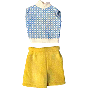 """12"""" Ideal Tammy or other Fashion Doll Set of 2 Sleeveless Blouse Shorts"""
