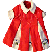 Penny Brite or other Small Doll Red White Dress No. 2