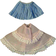 """12"""" Ideal Tammy or other Fashion Doll Pair Slip Skirt"""