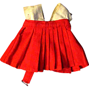 Penny Brite or other Small Doll Red Skirt White Bodice Dress