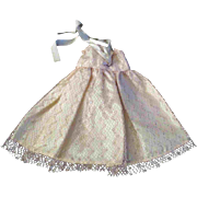 """8"""" Ginny Muffie or other Doll Pale Pink Sparkling Lace Overlay Gown"""