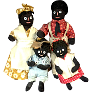 Rachael Smith Marlatte Black American Cloth Doll Family Dolls 1960s Dinah Sam Boy Girl