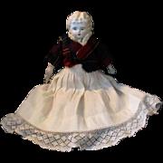 """13.5"""" Parian Stone Bisque Head Doll Blond Hair"""