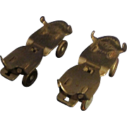 Pair Sherwood Expanding Metal Roller Skates for Doll or Display