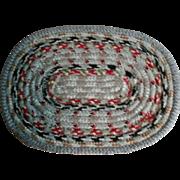 "14"" Vintage Braided Miniature Rag Rug for Dollhouse Table Mat"