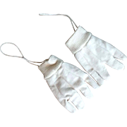 "3.5"" Pair Cotton Gloves for Vintage Doll or Display"