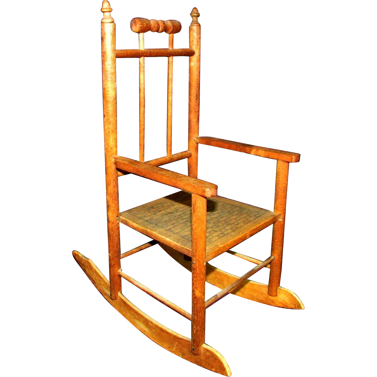 14 Antique Litho Lithograph Rocker Rocking Chair For Bear