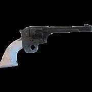 """2"""" Vintage Mattel Miniature Metal Cowboy Steer Pistol"""