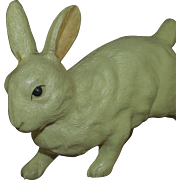 "4.5"" Celluloid White Easter Bunny Rabbit"