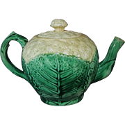 Antique Majolica Etruscan Cauliflower Tea pot