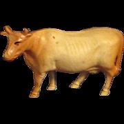 "3"" Antique Celluloid Toy Cow"