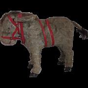 """7"""" Vintage 1940s Wind Up Donkey Toy"""