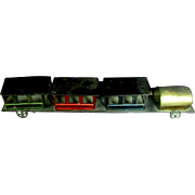 "10"" Vintage Early Metal Train 4 Cars Metallic Paint Original Wheels"