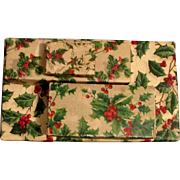Set of Four Vintage Holly Cardboard Christmas Gift Boxes
