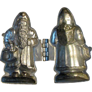 Antique Father Christmas Santa Claus Saint Nicholas Metal Chocolate Ice Cream Candy Mold