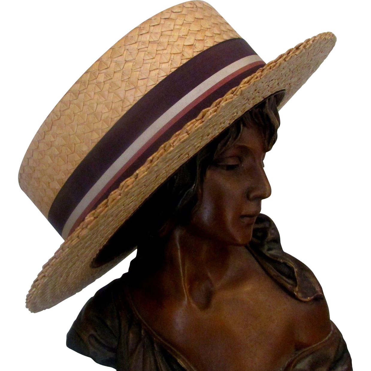 c01e0f1eb2a Vine Men S Straw Boater Hat Petersham Ribbon By Disney Hatter Co