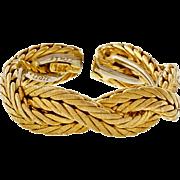 Buccellati 18 Karat Yellow Gold Two Row Woven Wedding Band Ring