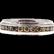 Platinum Fancy Champagne Diamond Eternity Wedding Band Ring