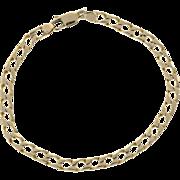 14 Karat Yellow Gold Curb Style Link Bracelet