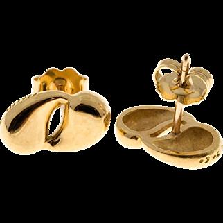 Tiffany & Co Double Tear Drop 18 Karat Yellow Gold Earrings