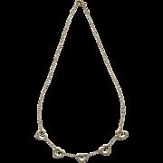 Tiffany & Co Sterling Silver Elsa Peretti 5 Heart Necklace