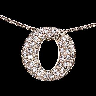 Tiffany & Co Diamond Mini Sevillana Platinum Pendant Necklace